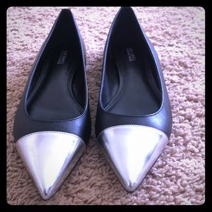 Black and silver Michael Kors flat shoe